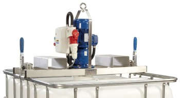 ELECTRIC IBC MIXER WITH FORK LIFT OPTION